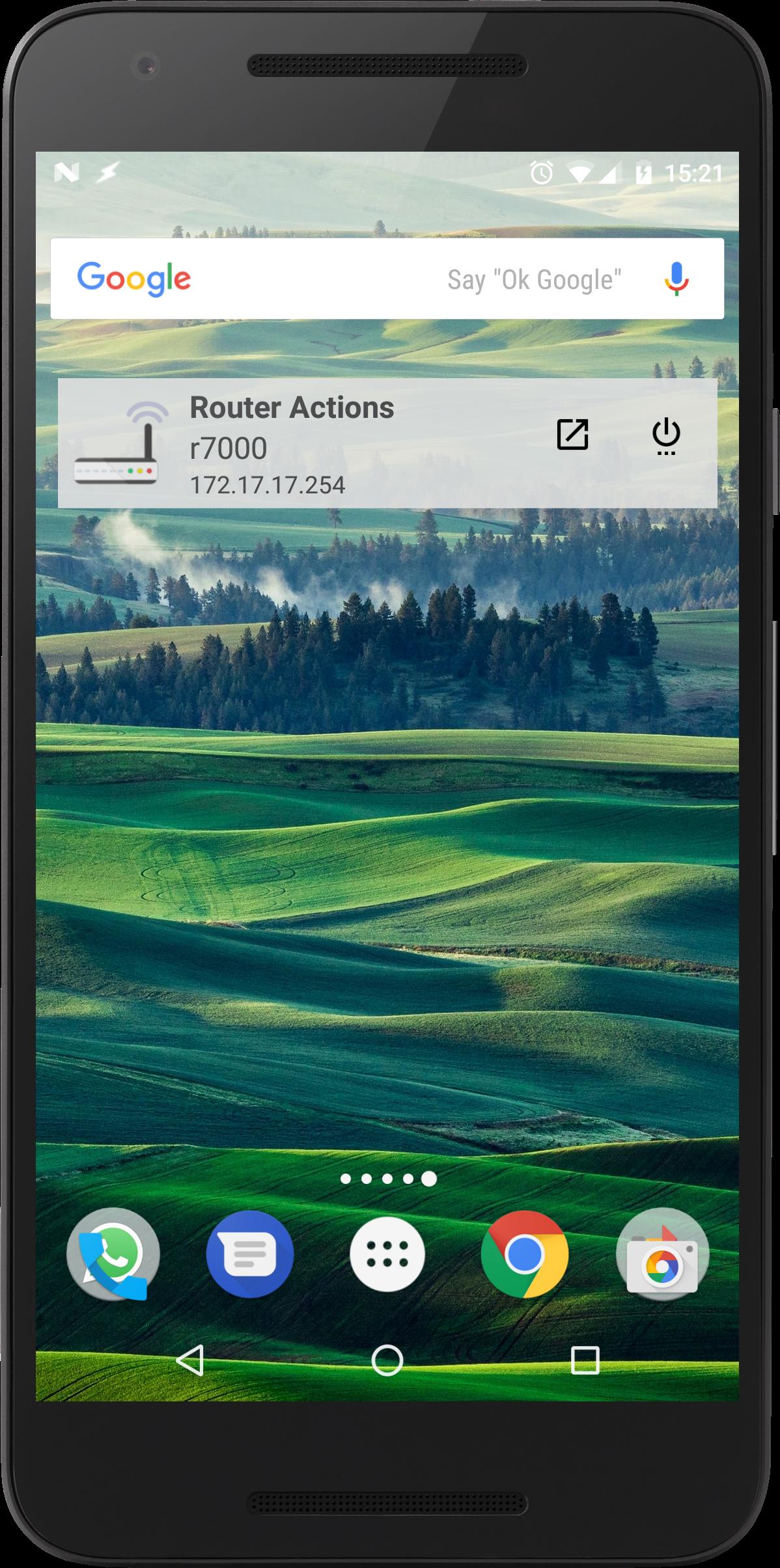 Widget - Router Actions