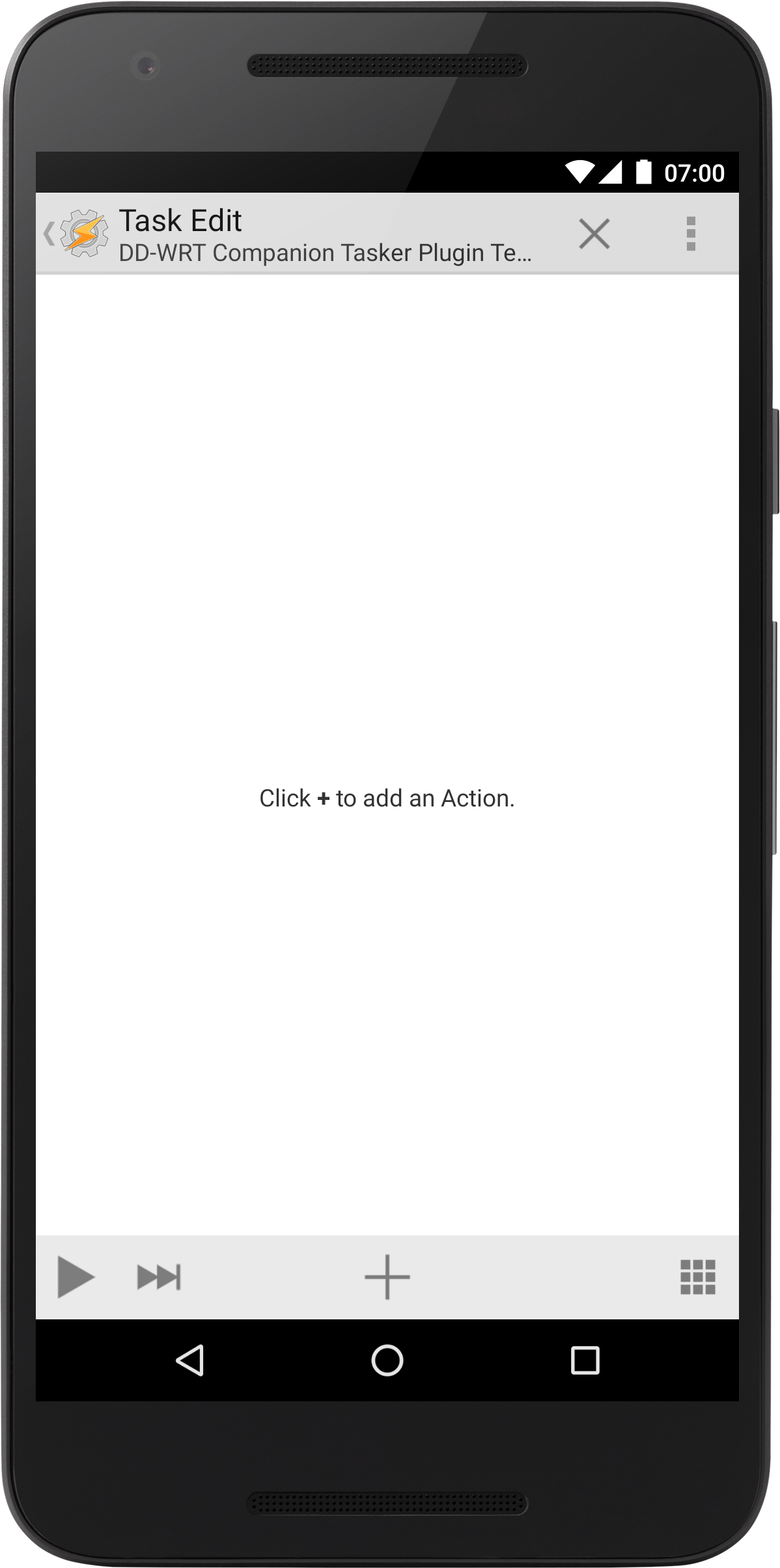 Edit Task actions