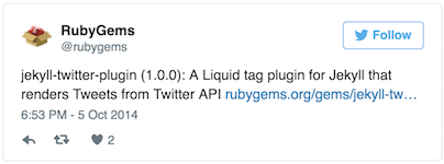 Screenshot embedded tweet
