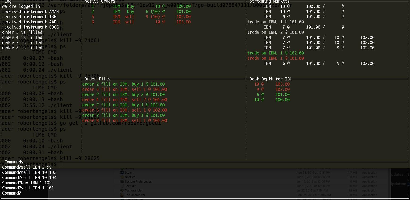 client screen shot