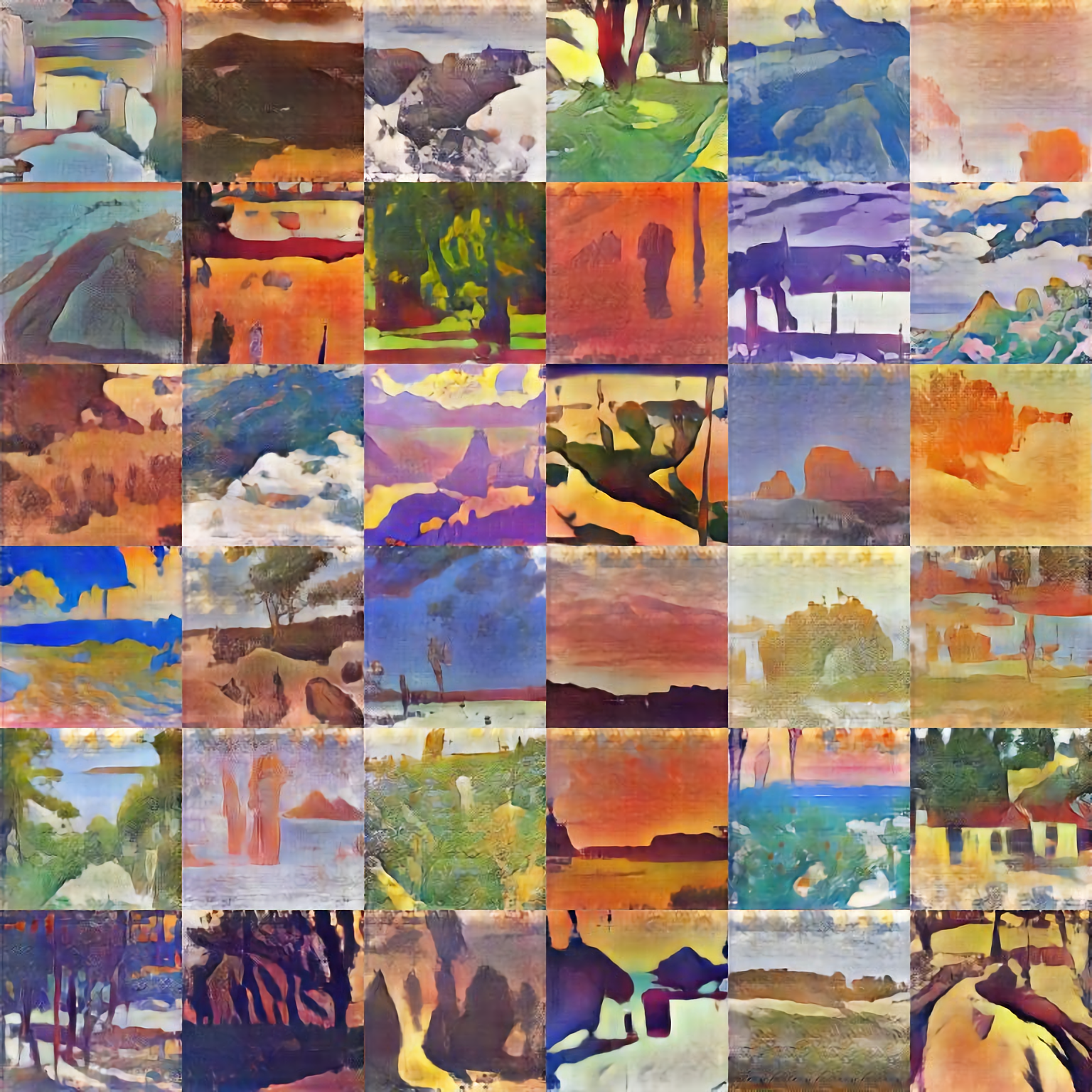 Batch of Abstract Landscapes