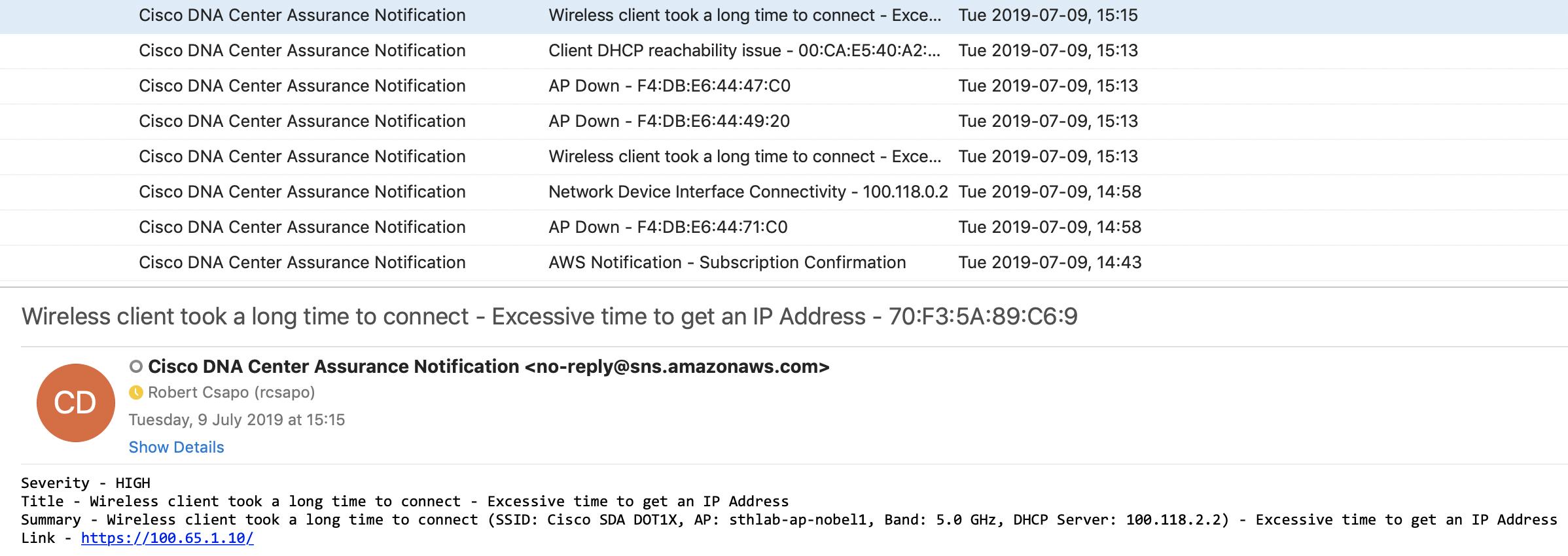robertcsapo/cisco-dnacaap-assurance-aws-sns: Cisco DNA