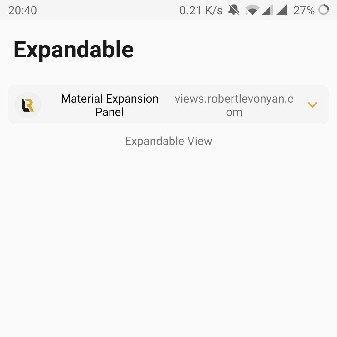 Expansion panel android