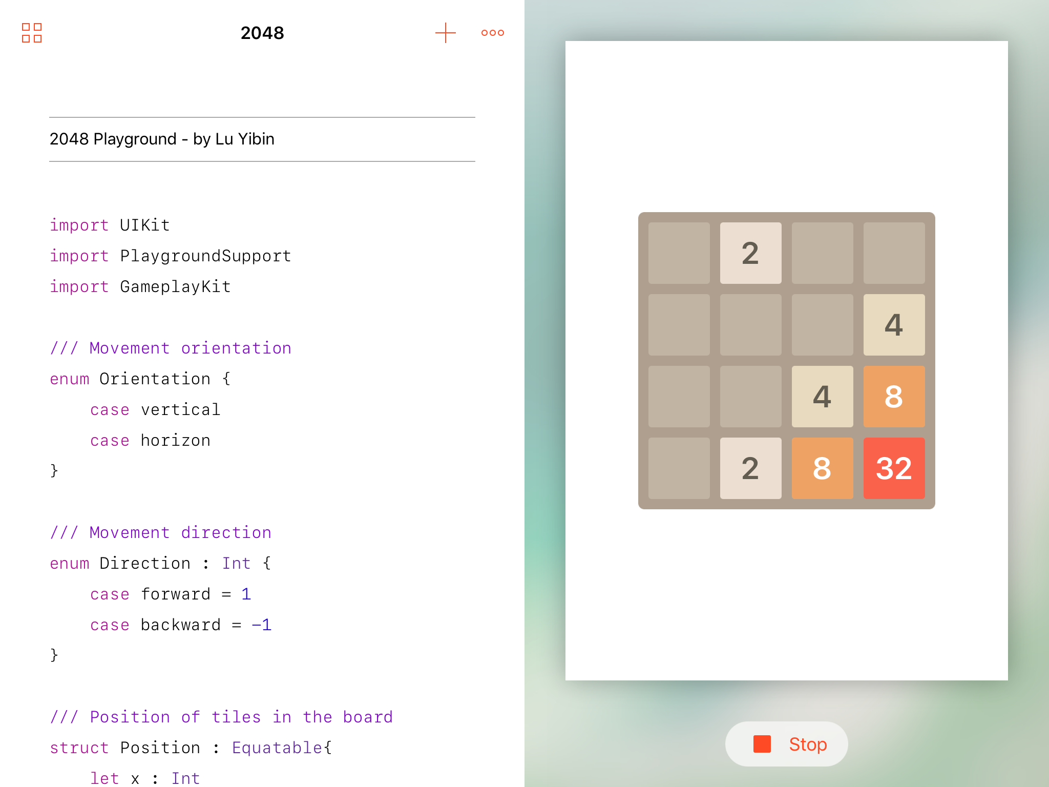 huge selection of 2d2c7 17a28 GitHub - robin/2048_Playground: A swift playground of the ...