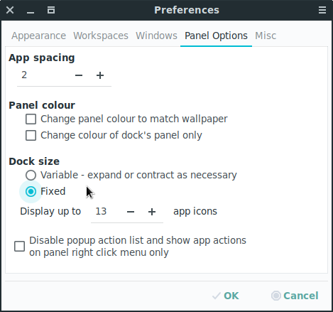 scrolling preferences