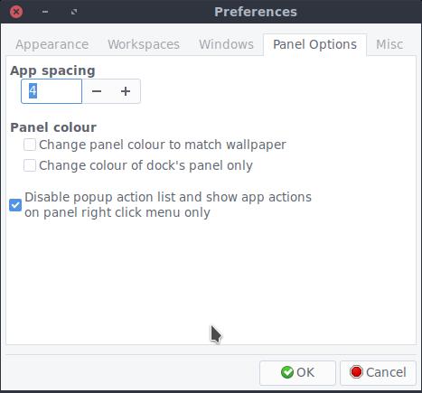 app spacing preference