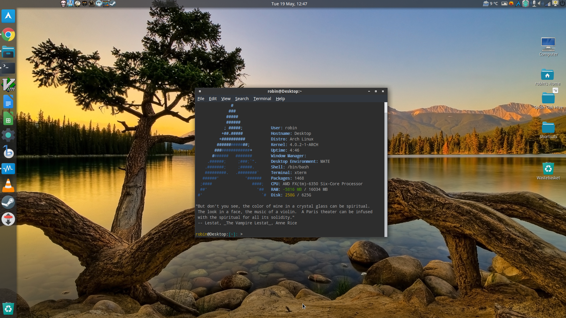 Arch screenshot