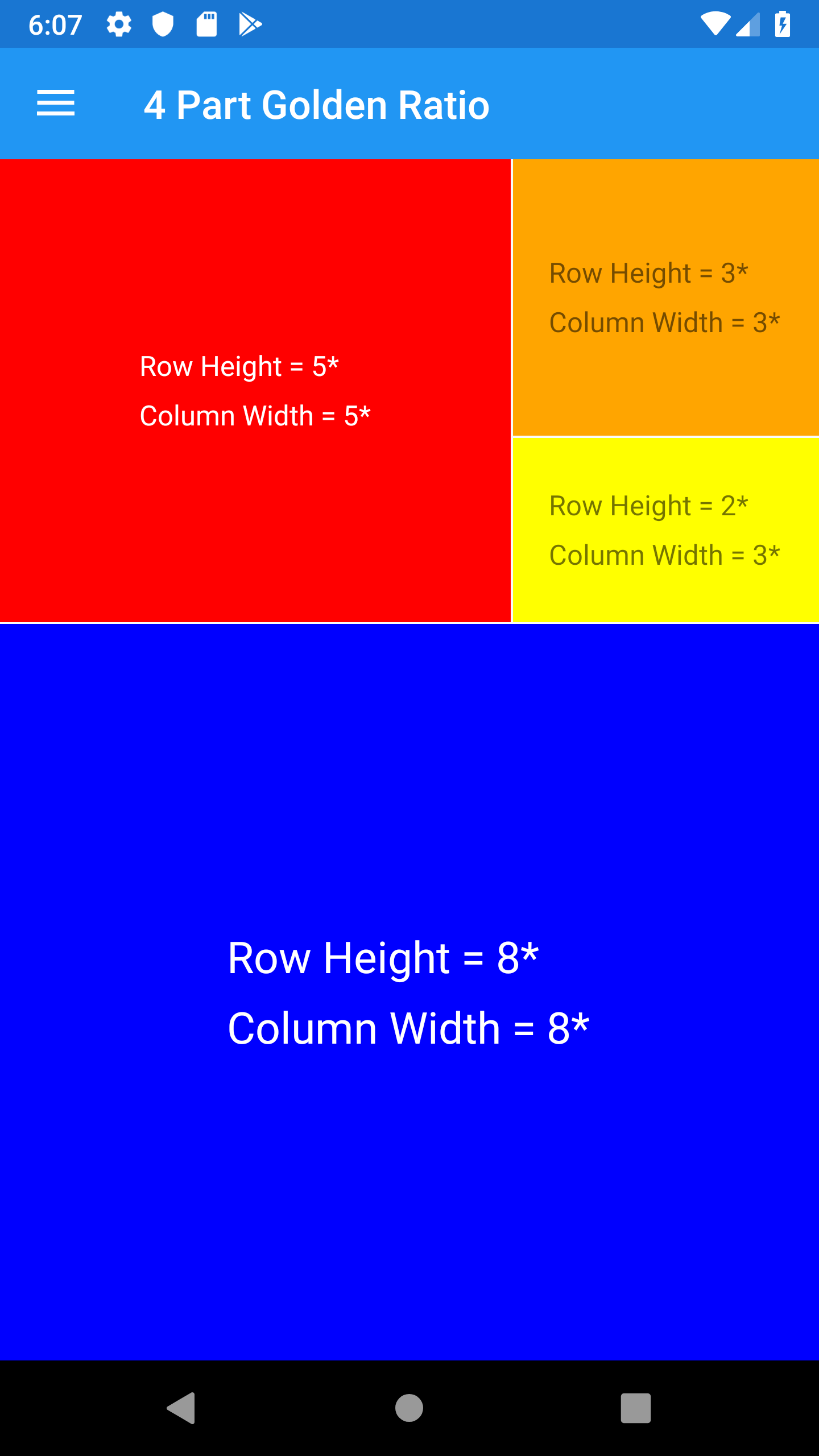 Golden Ratio 4 Parts