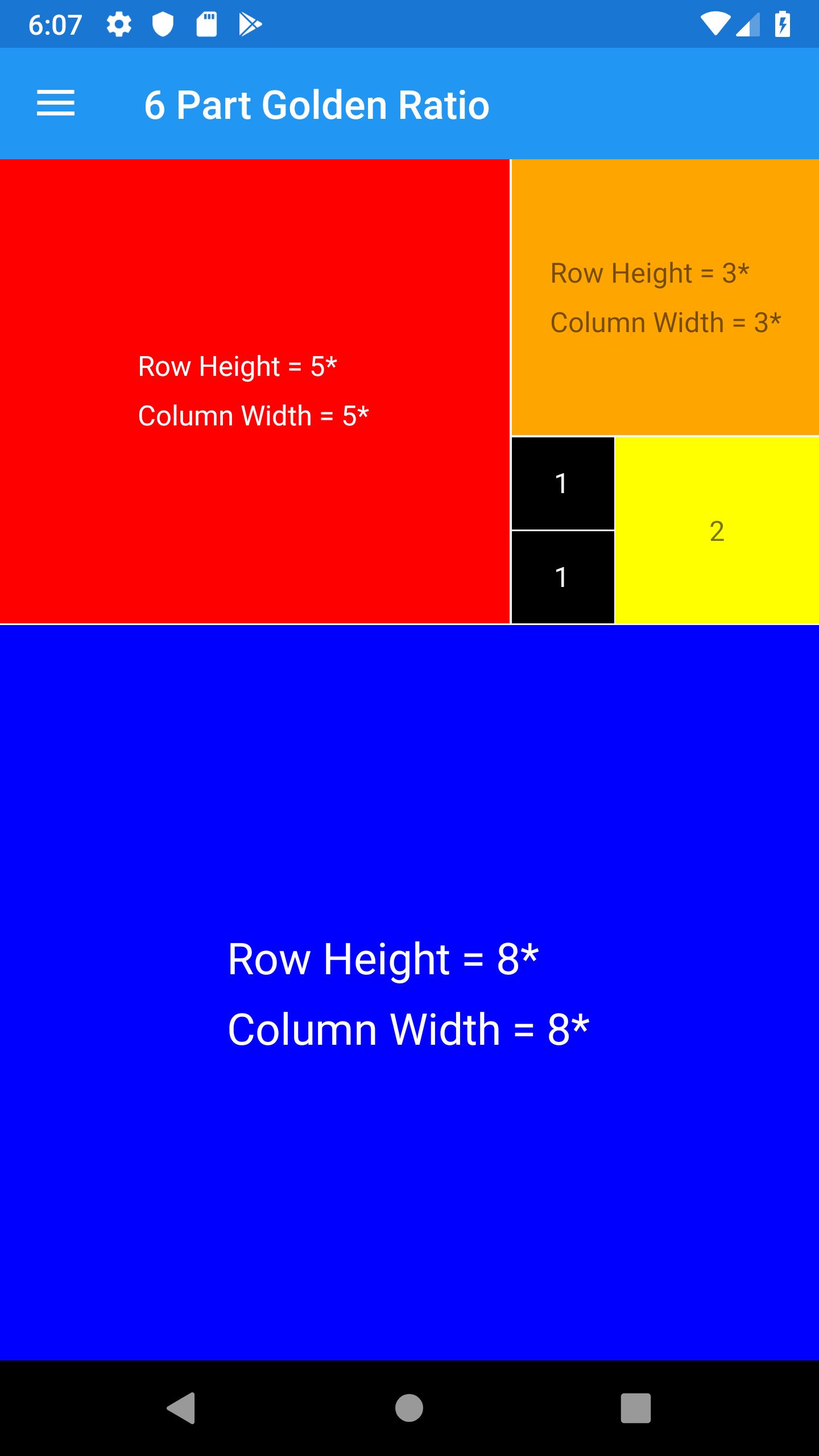 Golden Ratio 6 Parts