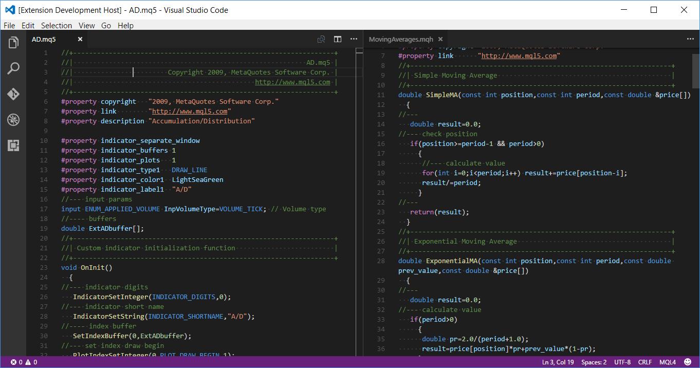 Default MQL5 syntax highlight