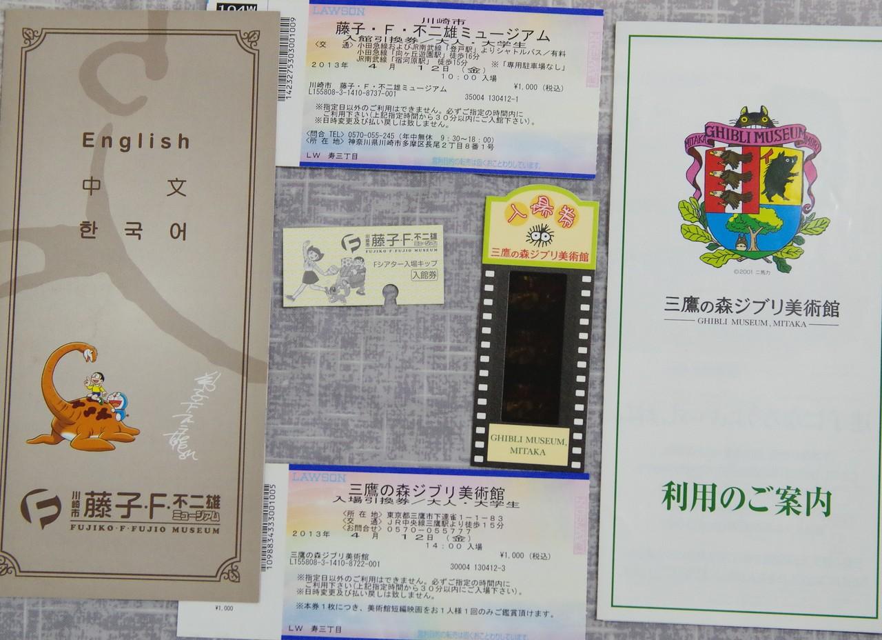 藤子·F·不二雄博物館與三鷹之森吉卜力美術館票券