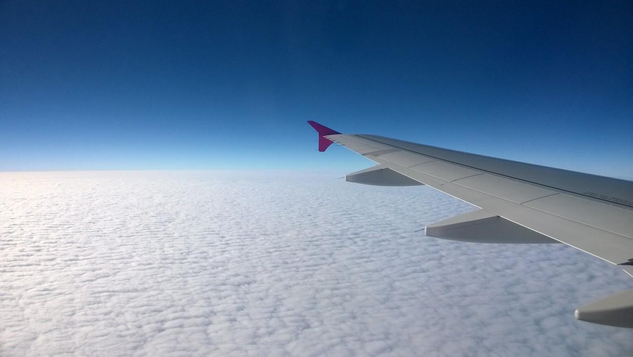 樂桃航空窗外雲景