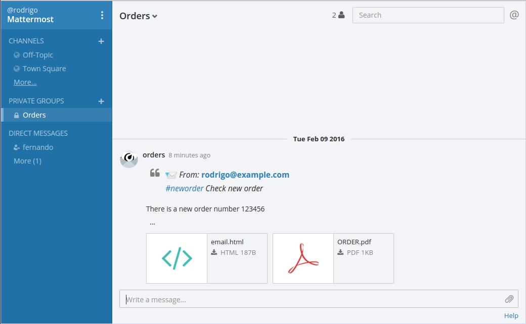 mattermail screenshot