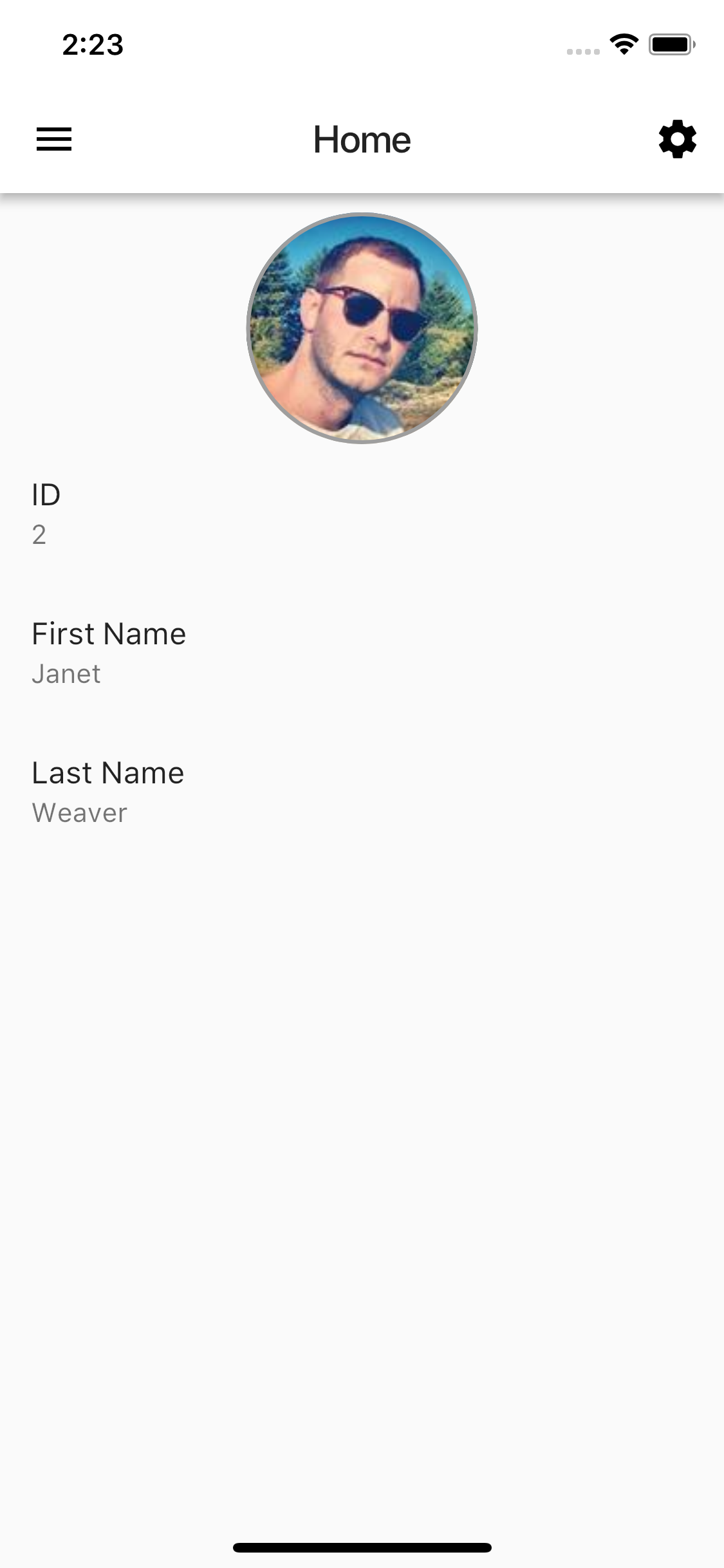 Flutter Login Example