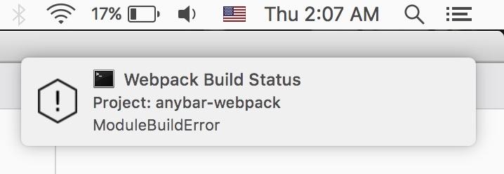 anybar webpack plugin notification demo