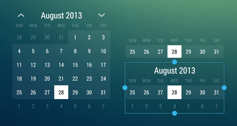 Monthly Calendar App : Android monthcalendarwidget by romannurik