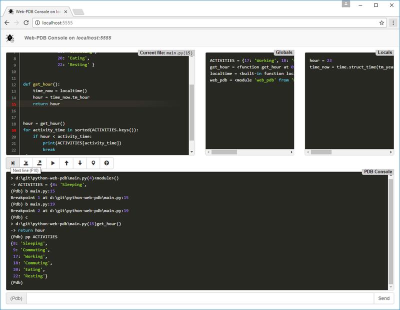 GitHub - romanvm/kodi web-pdb: Web-based remote Python debugger for