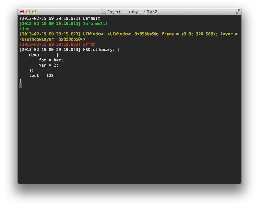 Screenshot of REDebugClient