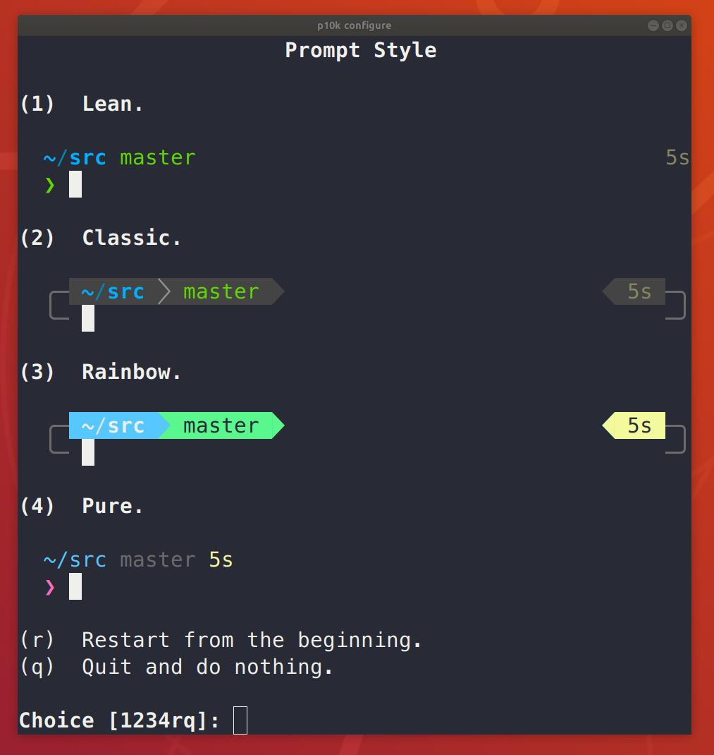 p10k configure style