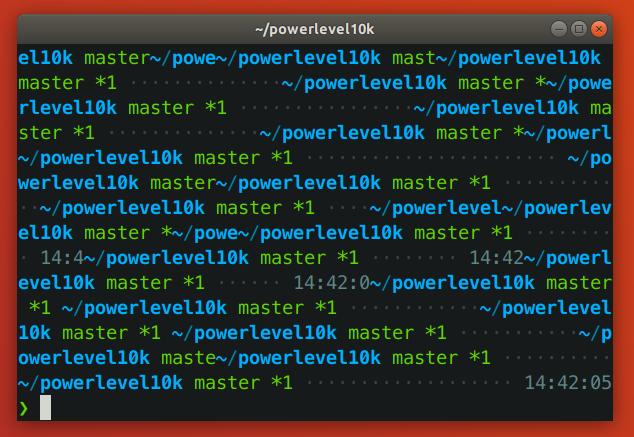 Powerlevel10k Resizing Mess