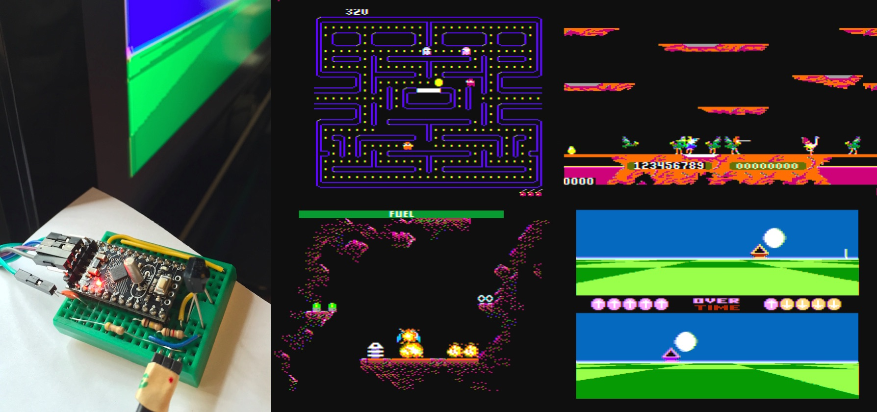 Github rossumur arduinocade play color retro games on