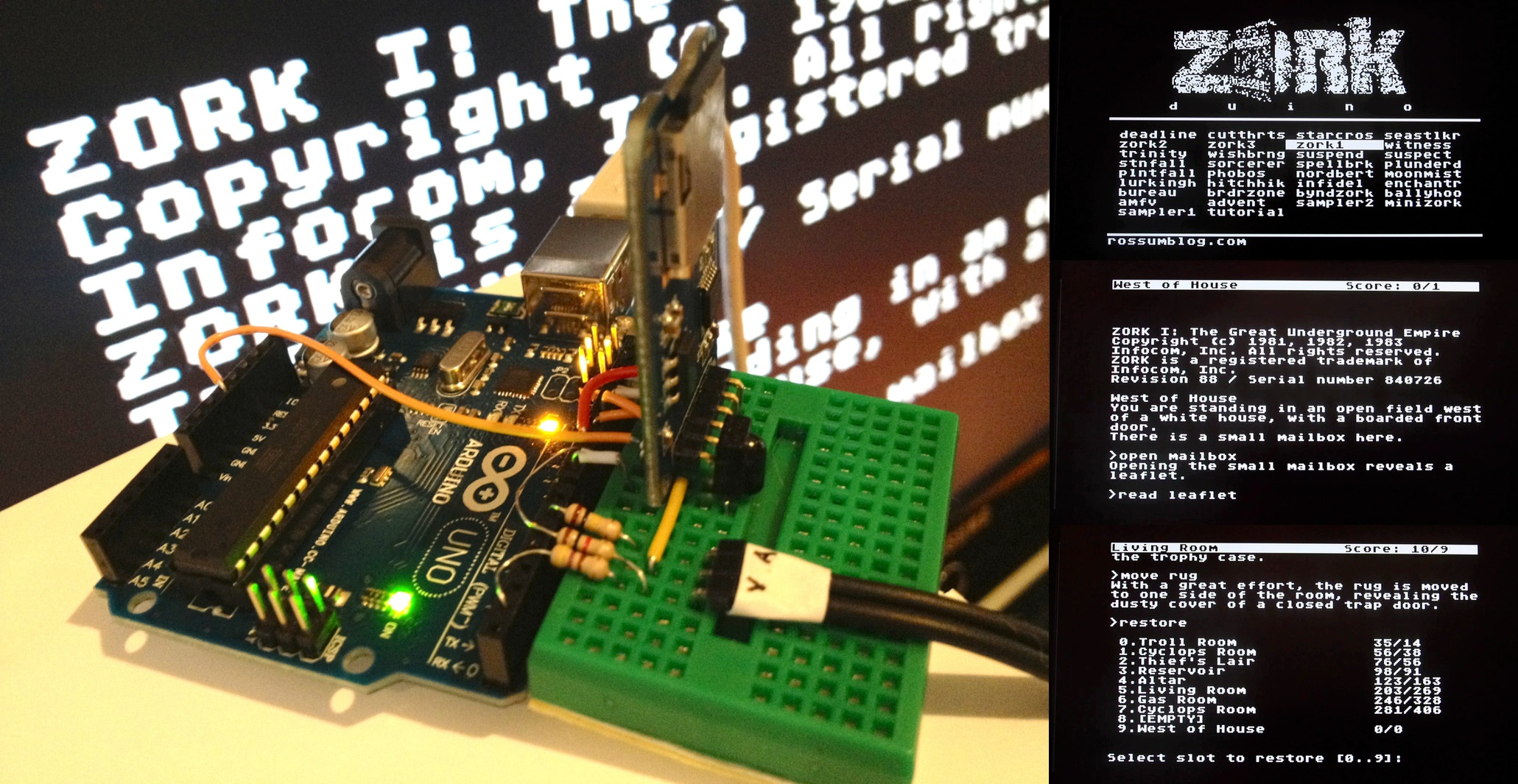 Github rossumur zorkduino play zork on your tv with an
