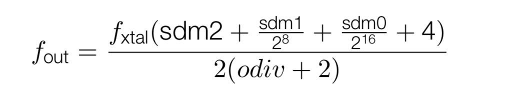 Audio PLL Formula