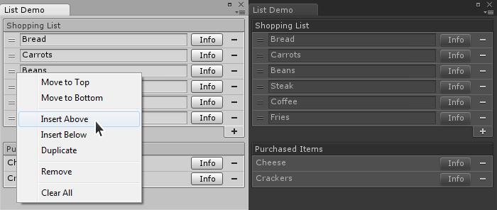 Unity3D Reorderable List - UnityList
