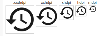 Sample icons