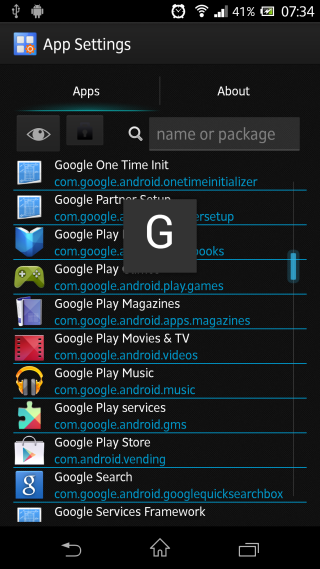 [APPLICATION ANDROID -MOD XPOSED][4.0+] APP SETTINGS : DPI, taille police, plein écran, permissions, rotation, langue... [Module][Gratuit][26.11.2013] Apps_list