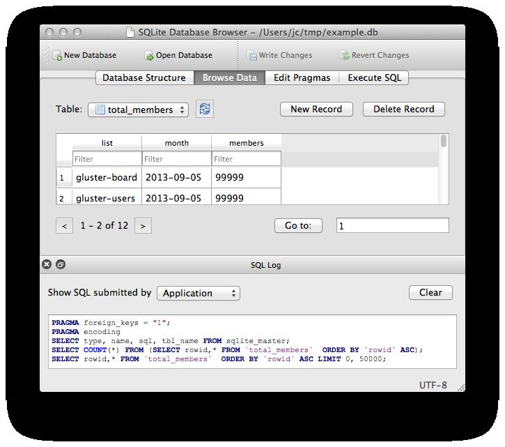 SQLite Editor / Browser v3