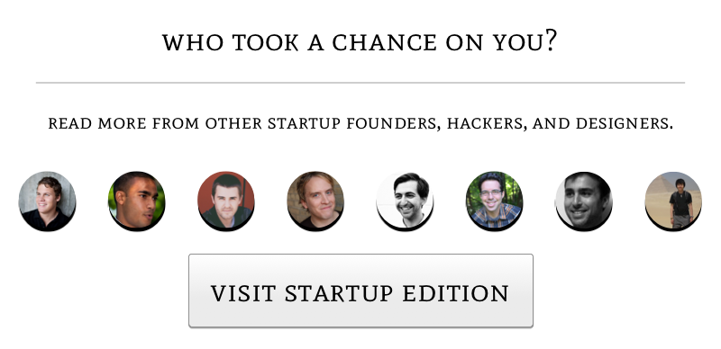 visit Startup Edition