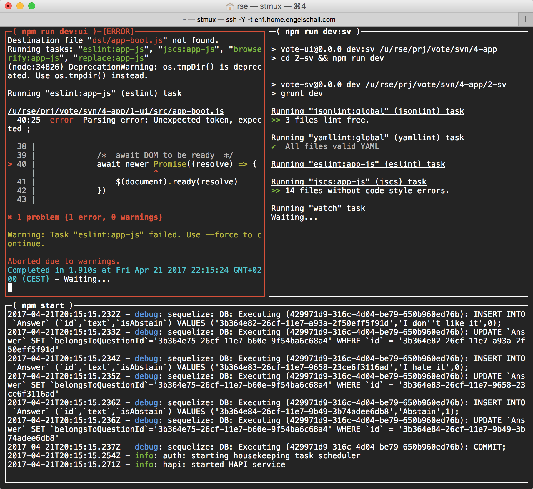 stmux example