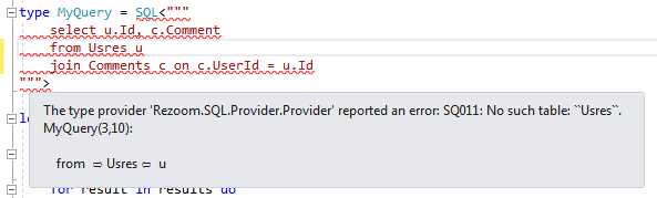 example error on mistyped table name