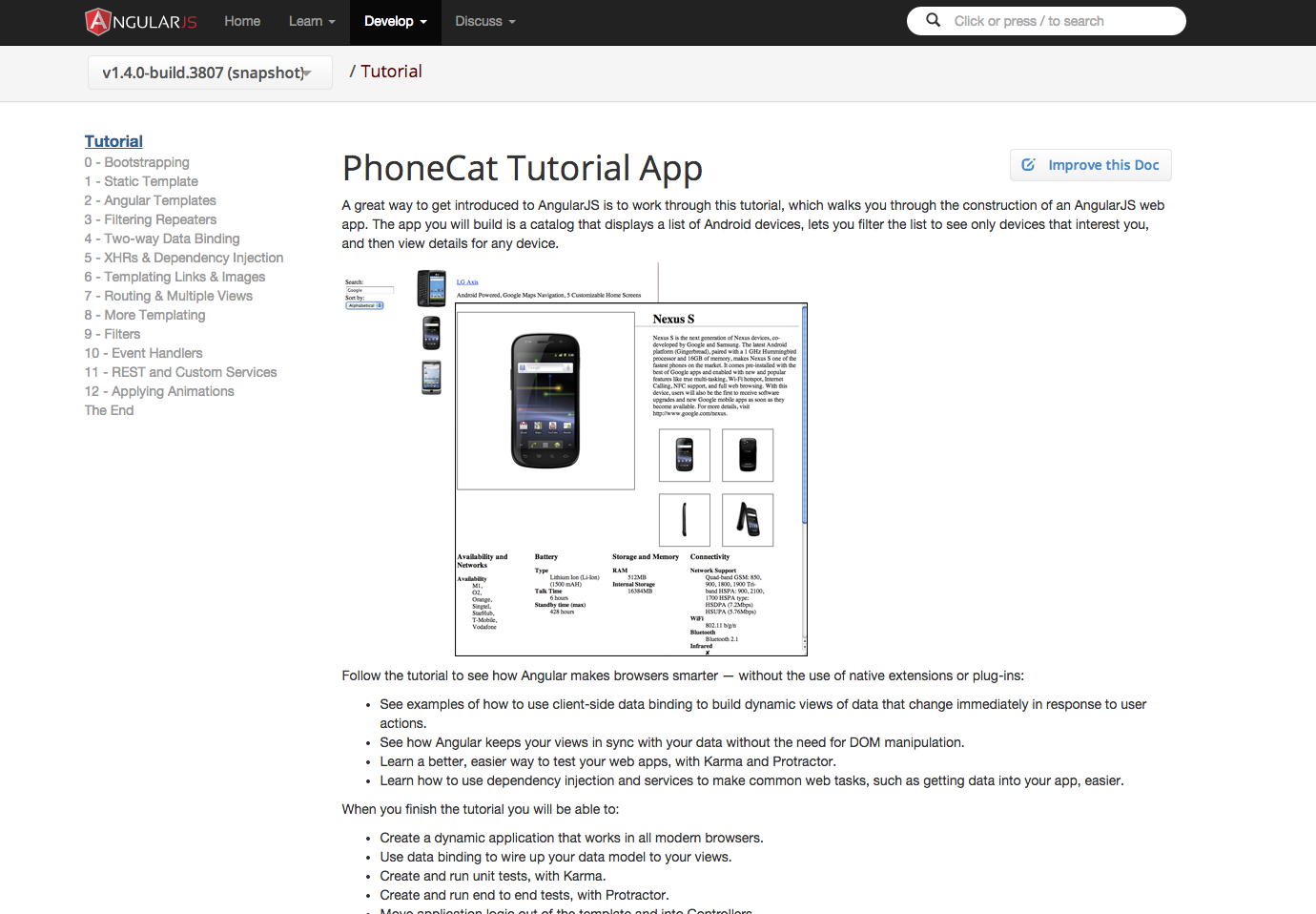 A fork of the list of 52 angularjs resources collected by jonathan angular phonecat tutorial baditri Choice Image
