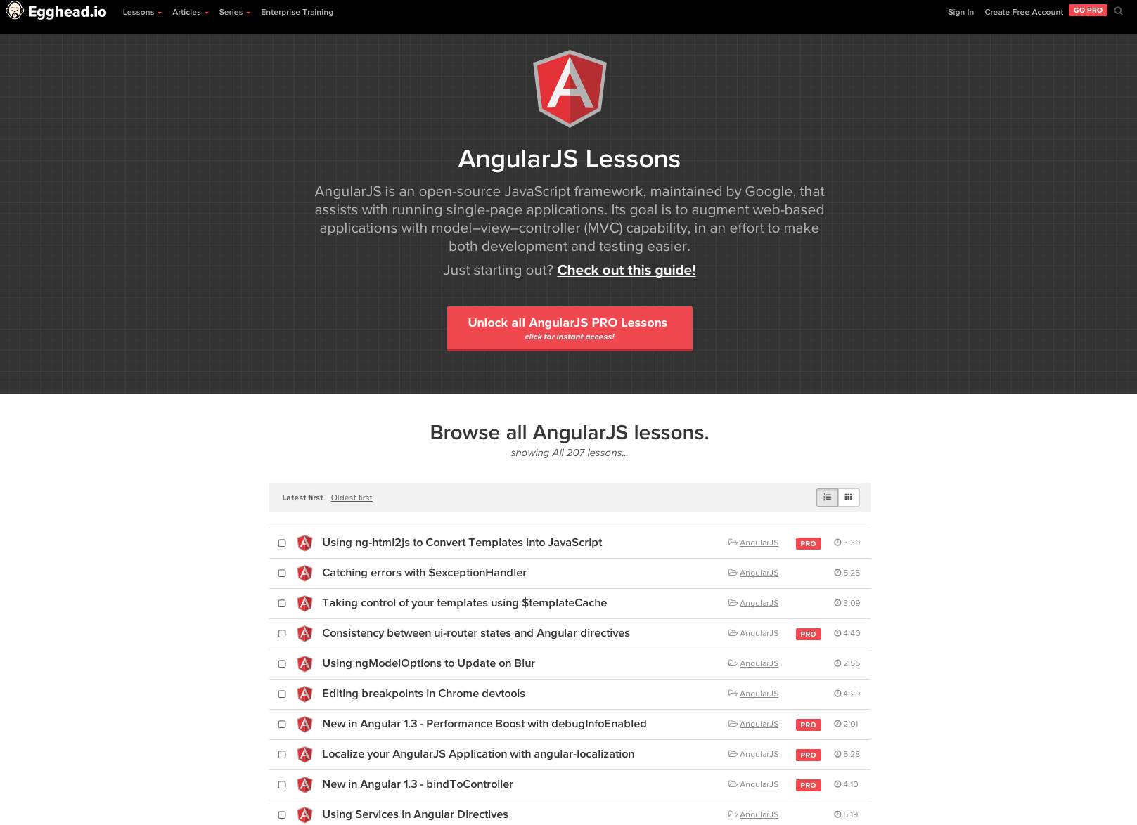 A fork of the list of 52 angularjs resources collected by jonathan egghead angularjs tutorials baditri Choice Image