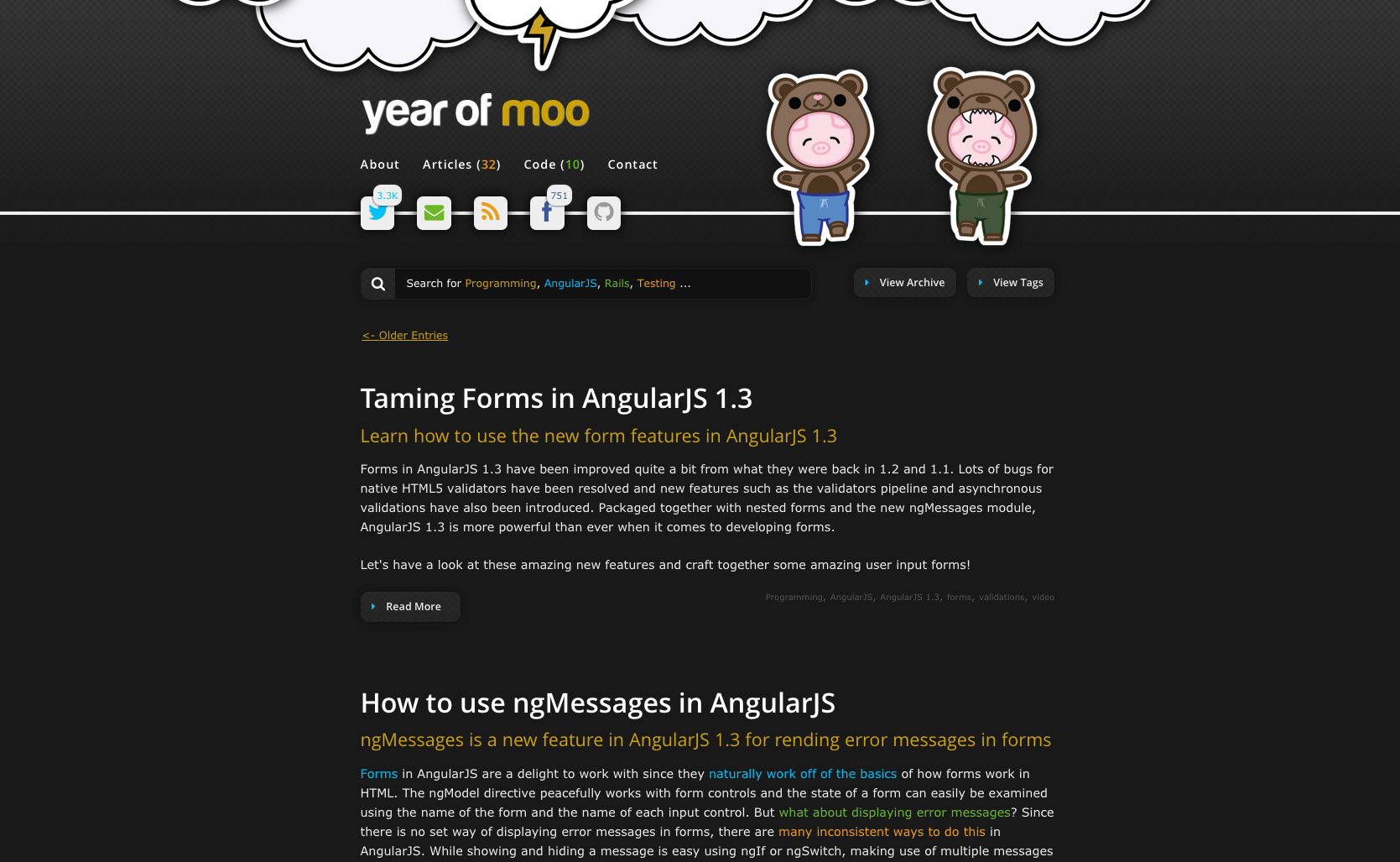 A fork of the list of 52 angularjs resources collected by jonathan year of moo angularjs tutorials baditri Choice Image