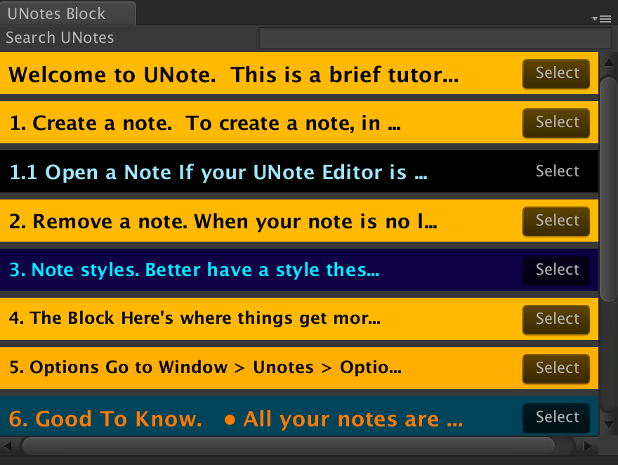 UNotes Browse Notes