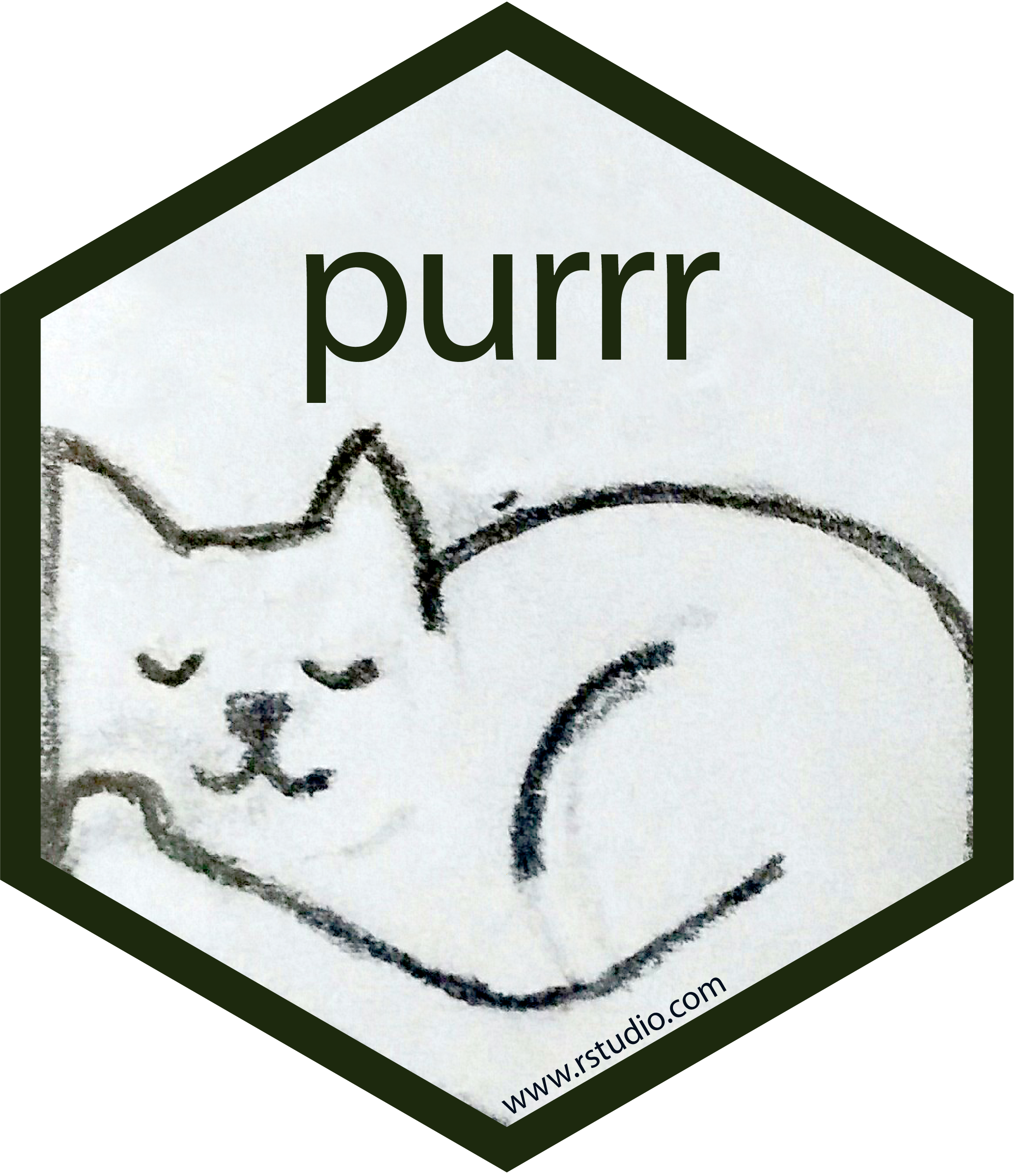 purrr hex sticker
