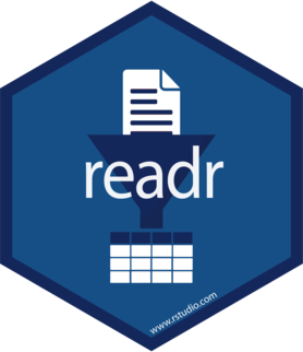 Logo for readr