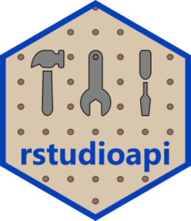 Logo for rstudioapi