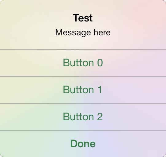 RTAlertView four buttons