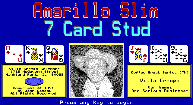 Amarillo Slim 7 Card Stud