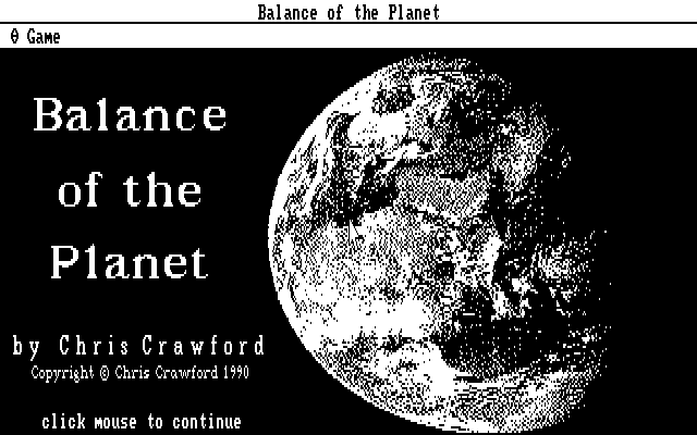 Balance of the Planet