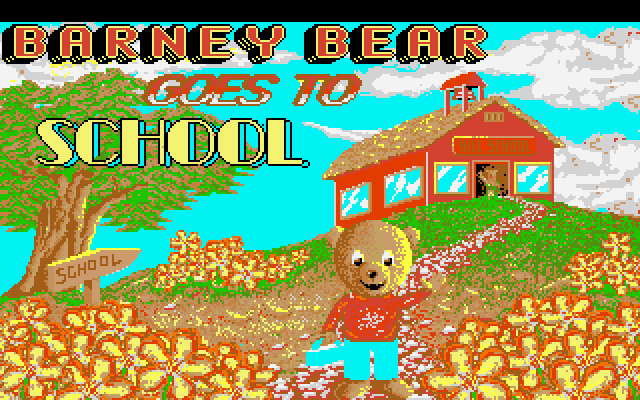Barney Bear Goes to School