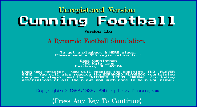 Cunning Football