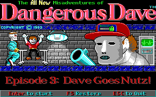 Dangerous Dave - Episode 3 - Dave Goes Nutz