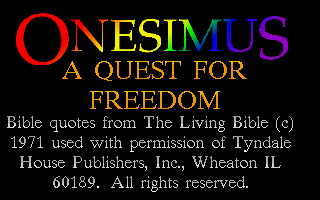 Onesimus - A Quest for Freedom