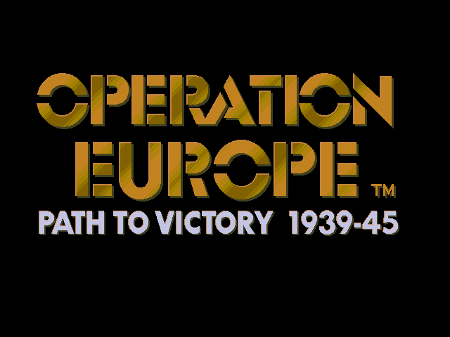 Operation Europe - Path to Victory 1939-45
