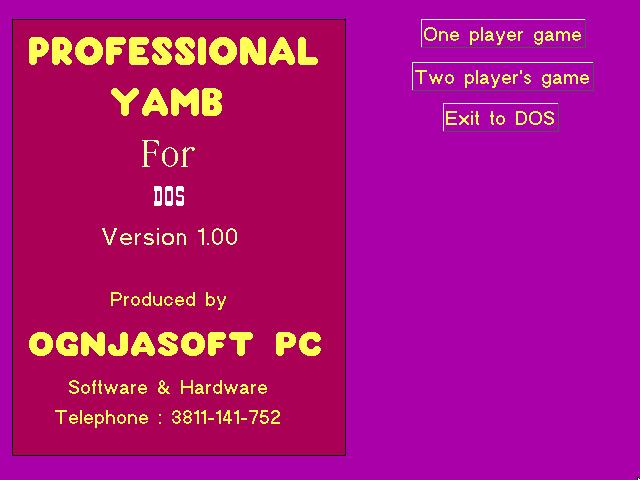 Professional Yamb